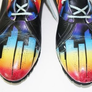 Airbrushed City Skyline Ankle Boots